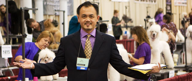 Mr. Gan Wee Yet Core Judge At Groom & Kennel Expo, USA