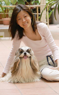 Ms Annie And Her Shih Tzu Posing For Star News Paper